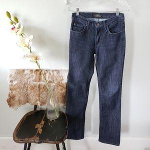 dry aged james jeans dark wash hunter straight leg